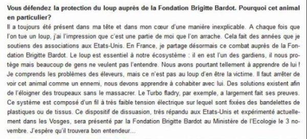 Info ! Jeanne participe, ce samedi 03 juin à Paris, à LA MARCHE contre LES TIRS DE LOUPS et contre LA CHASSE