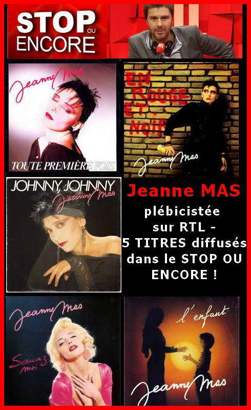 Plébiscite de Jeanne sur RTL ce 30 juillet - 5 titres de l'artiste ont été diffusés  sur l'antenne d'RTL