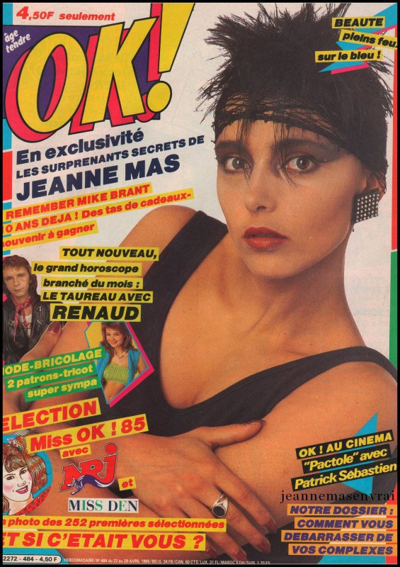 "Article de presse - ""OK magazine"" (n°484) Du 22 au 28 avril 1985"