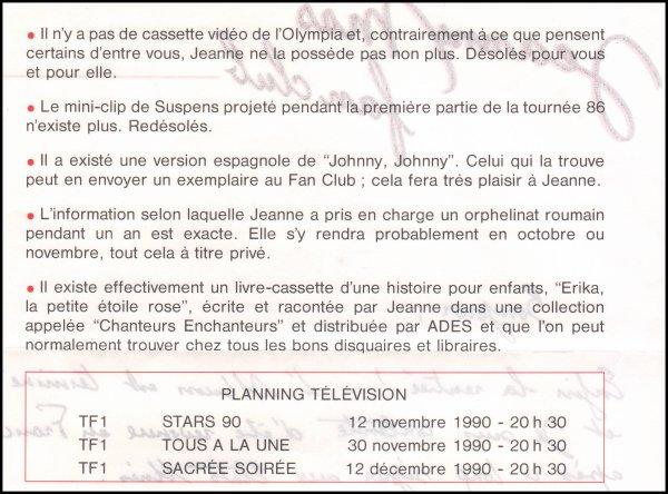 """Dossier spécial Album  """"L'ART DES FEMMES"""" (1990) -  Un article de presse (Interview) + un passage TV inédit + un courrier du fan-club"""