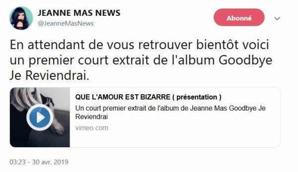 """News - Le nouvel album """"Goodbye je reviendrai"""""""
