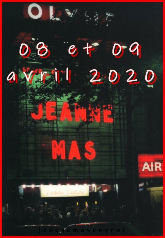 News - JEANNE MAS EN CONCERT   Les 08 et 09 avril 2020 à L'OLYMPIA
