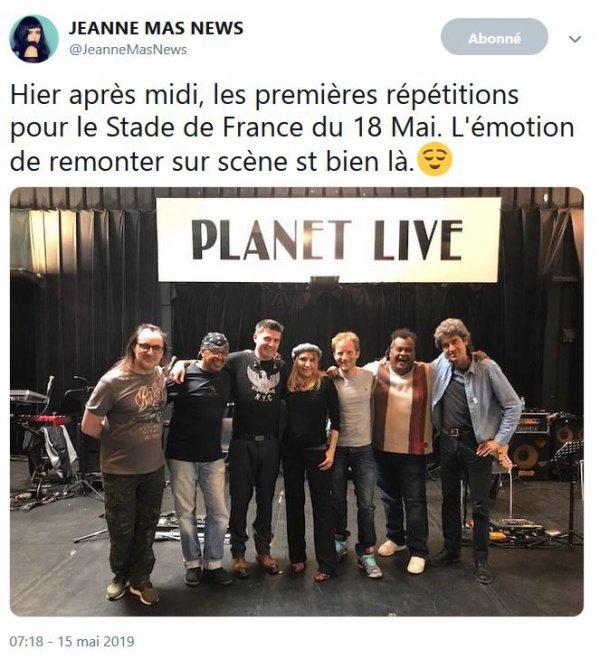 News - Jeanne en  guest ce soir au Stade de France