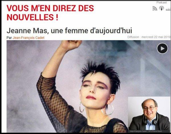"""News radio - Jeanne invitée de RFI (22/5/19) """"Vous m'en direz des nouvelles"""" (J.F. Cadet)"""