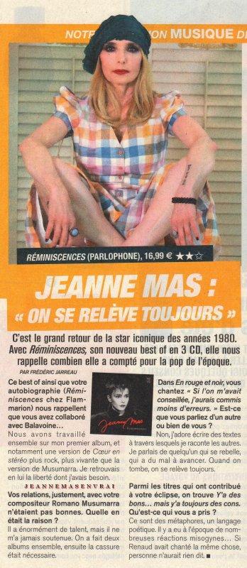 """News presse - Jeanne en interview dans le """"Télé magazine"""" (n°3319 - du 15 au 21/6/19)"""