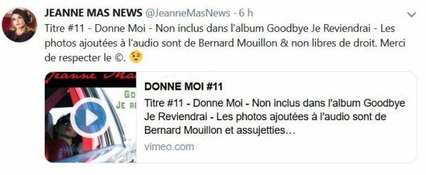 """News twitter - """"Donne-moi"""", le titre 11 de l'album """"Goodbye je reviendrai"""", dévoilé"""