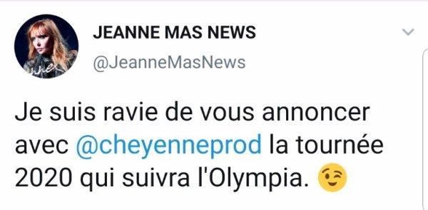 News - En 2020, JEANNE  sera EN CONCERT EN FRANCE  et en BELGIQUE