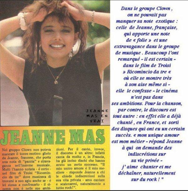 """Dossier spécial """"Gruppo Clown"""" (Italie)- JEANNE intègre la troupe """"Gruppo clown"""" en 1980"""