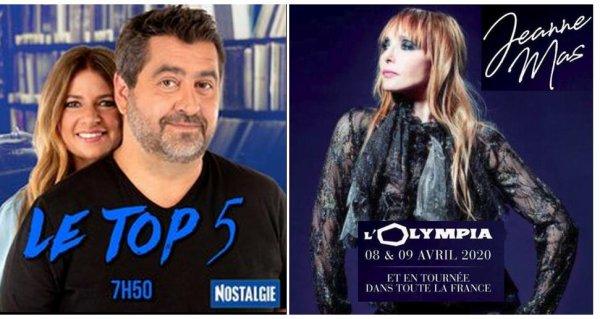 """News radio - Chronique """"Le TOP 5 des chansons de  JEANNE MAS"""" sur Nostalgie ce mercredi 26/02/2020"""