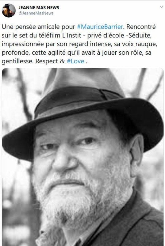 Hommage à Maurice Barrier