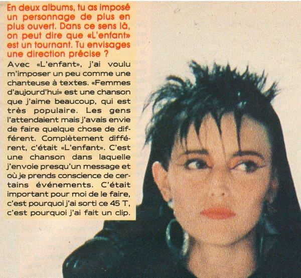 """Dossier spécial  - Tout sur """"L'ENFANT"""" & son clip Passages TV, presse, photos..."""