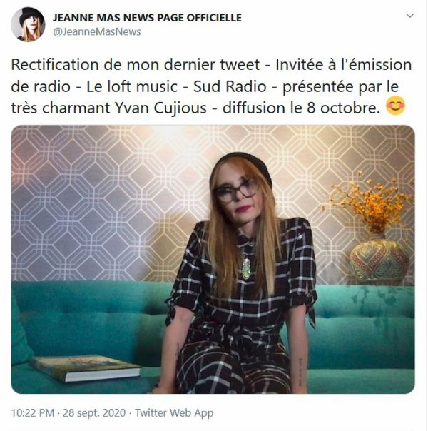 News radio - Jeanne sur SUDRADIO ce soir
