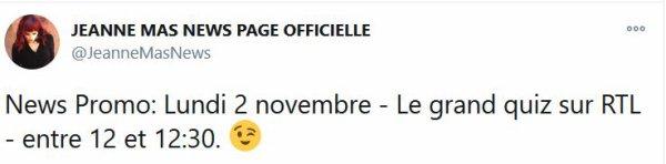 """News radio - Jeanne était l' invitée, en direct sur RTL,  de l'émission  """"TOUT A GAGNER""""  présentée par Bruno Guillon"""