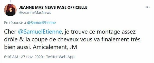 """News - Thème JEANNE MAS dans l'émission TV """"Questions pour un champion"""" (20/11/20)"""