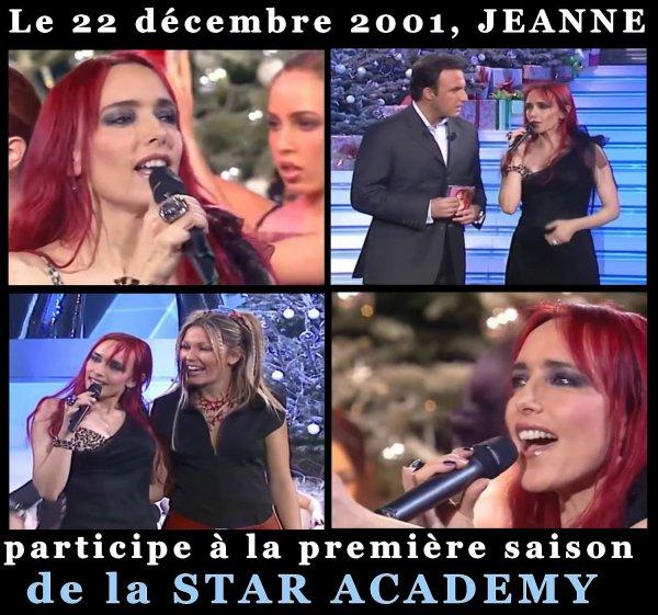 Il y a 19 ans jour pour jour - Jeanne MAS est sur le plateau de la  STAR ACADEMY (première saison)