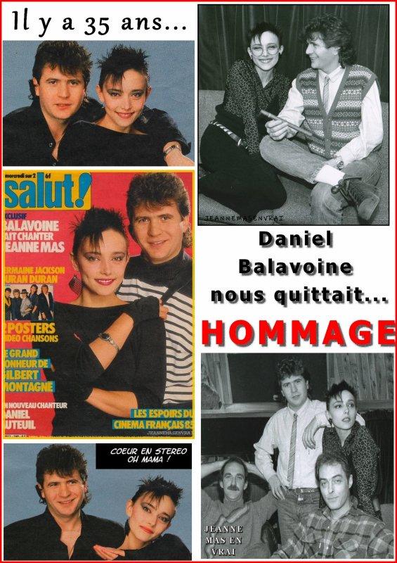 Il y a 35 ans... - Hommage à Daniel Balavoine