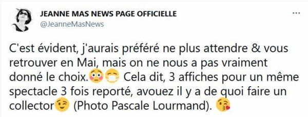News - Nouvelles dates de report