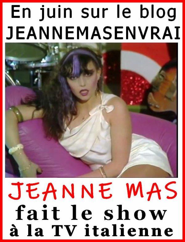 A NE PAS MANQUER en juin ! - Des documents rares de Jeanne à la TV italienne en 1981