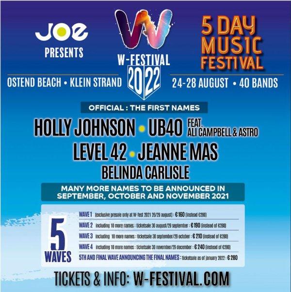 Info !   Jeanne Mas a l affiche du W-Festival à Ostende (Belgique) en août 2022