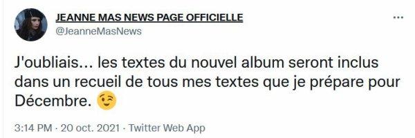 """News - Jeanne MAS - Nouvel album """"SAPORE DI AMORE"""""""