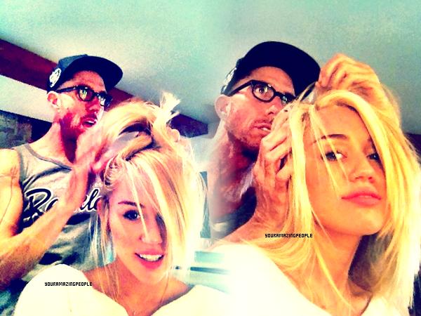 Miley des cheveux longs aux  .... cheveux courts pour la bonne cause (Photos Twitter)