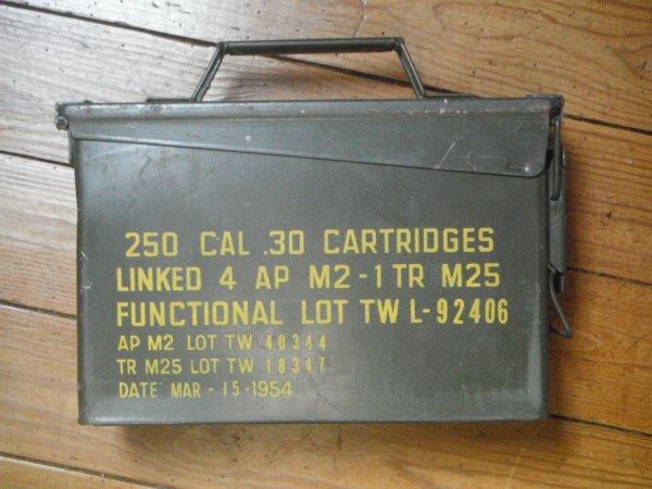 Vend boite de munition U.S. Calibre .30 (1954)