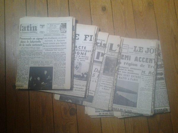 Vend Divers Journaux (de 1938 a 1942) Original
