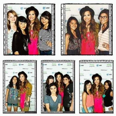 ______________________________________________________Jeudi 25 Août : Demi était à un Meet&Greet sponsorisé parAT&T and HTC Status à Los Angeles (Les photos viennent d'apparaître et je ne suis pas chez moi pour le gif se qui explique la mauvaise qualité!) ______________________________________________________