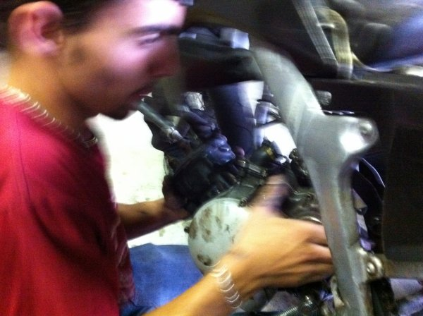le changement de moteur de la dt d'alex