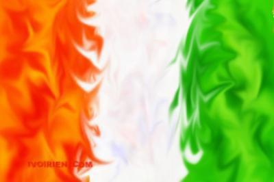 Le drapeau de la Côte d'Ivoire mon beau pays