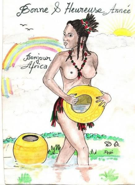 Africaine vous salut