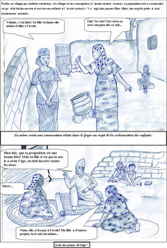 seconde page sur la scolarisation de la jeune fille...