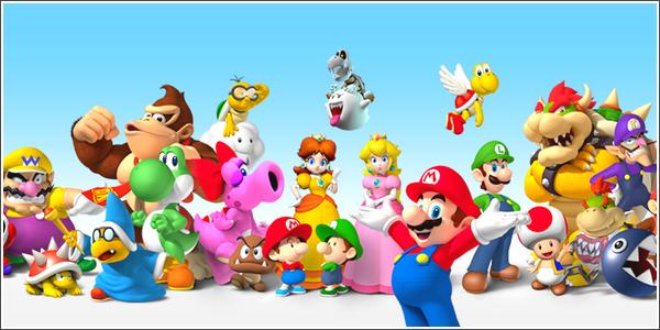 L'univers des personnages Nintendo