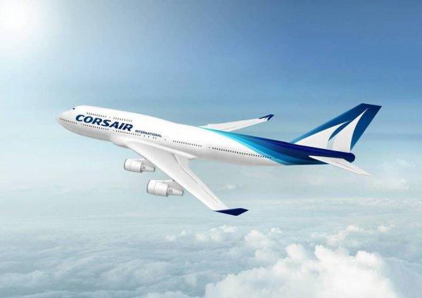 Image du 747 avec le nouveau nom et  les nouvelle couleur de la compagnie