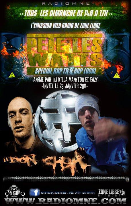 "DJ KILLA SERA EN RADIO AVEC DON CHOA DANS L EMISSION ""zone libre pete les watts"""