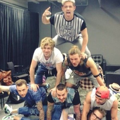 Niall avec Mcbusted !