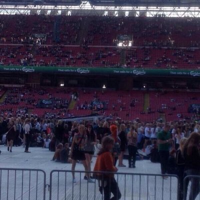 Le stade il y a quelque minutes !