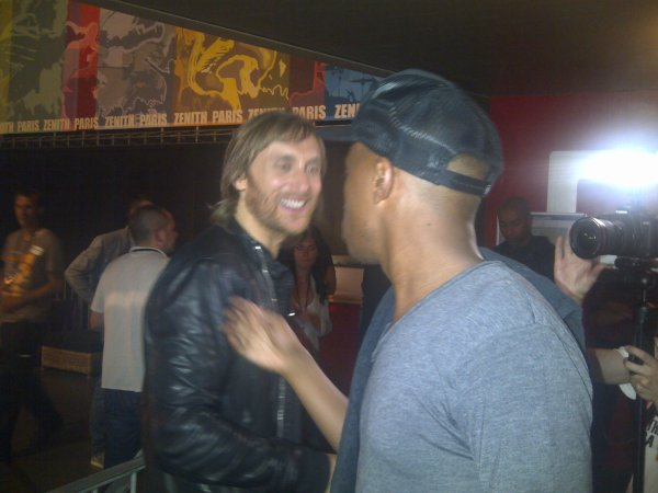 RENCONTRE DE SOPRANO ET DAVID GUETTA LORS DU ORANGE ROCK CORPS