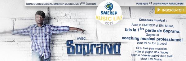 Concours musical avec Soprno, la Smerep et Emi Music .ıllılı. Facebook Fan Officiel .ıllılı. Twitter Officiel .ıllılı.