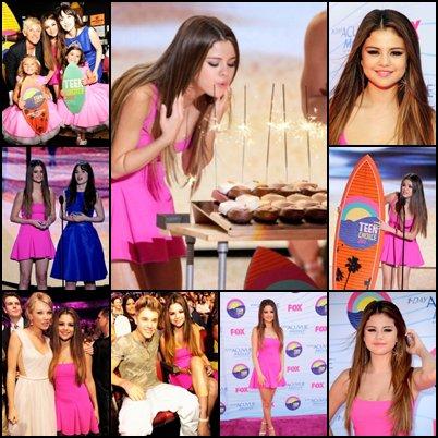 Happy 20th Birthday Selena + Teen choice awards