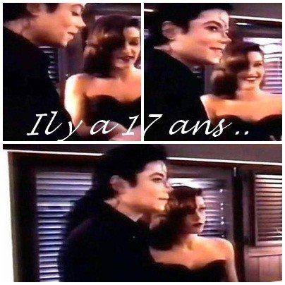 Il y a 17 ans , jour pour jour , le 26 mai 1994 , Lisa épousait Michael <3 .