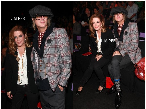 News | Lisa Marie & Michael à la Fashion Week de New York, le 14 Septembre . Elle est superbe ♥