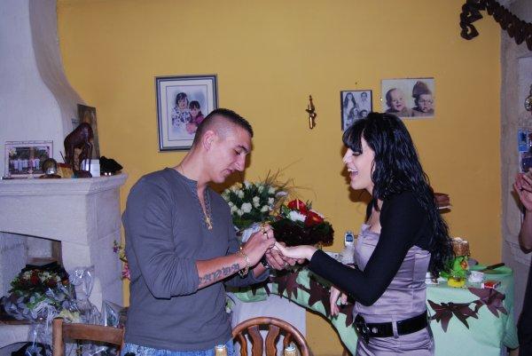 nos fiancailles le 08 Mars 2008