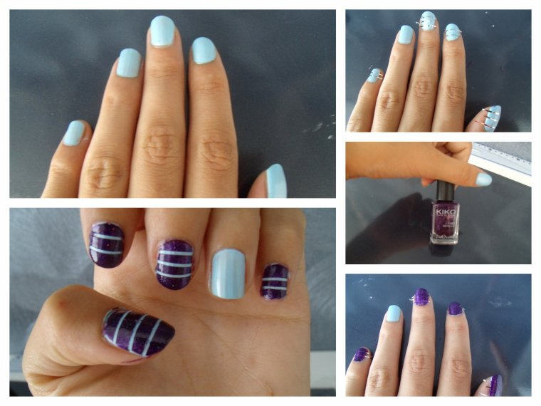 NAIL ART LINEAIRE BICOLORE