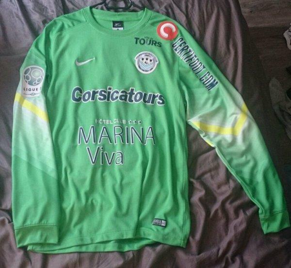 Maillot Tours Fc gardien saison 2015-16 porté par B.Kamara