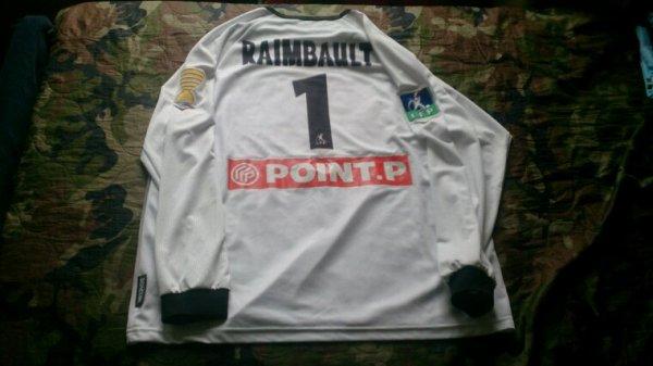 Maillot Tours Fc gardien coupe de la ligue saison 2006-07 porté par A.Raimbault
