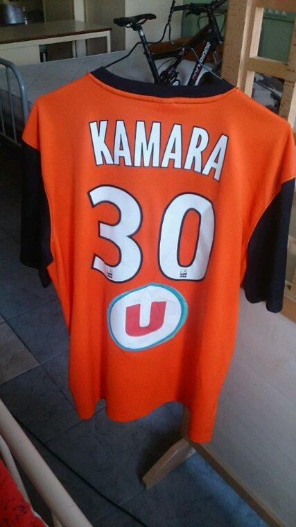 Maillot Tours Fc gardien saison 2014-15 porté par B.Kamara