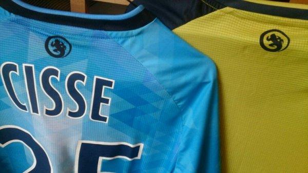Maillot Tours Fc domicile saison 2016-17 porté par Ibrahim Cissé face à Sochaux + maillot boutique domicile et third.
