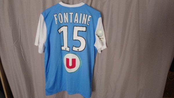 Maillot domicile saison 2014-2015 porté par T. Fontaine