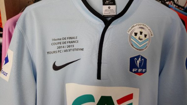 Maillot Tours Fc Coupe de France 2014-2015 collector face à l'AS Saint-Etienne porté par K. Diaz